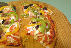 gluten free pizza cut